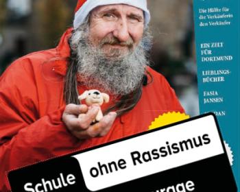 Die AG Schule ohne Rassismus der Erich-Fried-Gesamtschule unterstützt die Obdachlosenzeitschrift Bodo