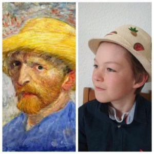 Simon aus der 6a als Vincent van Gogh