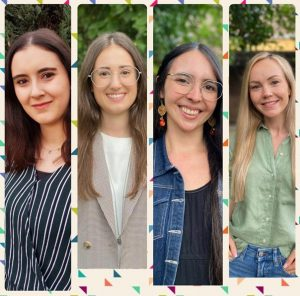 Vier neuen Referendarinnen 2021 bis 2022 an der Erich-Fried-Gesamtschule Herne